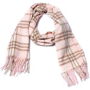 Burberry Nova Check Pink Cashmere Scarf